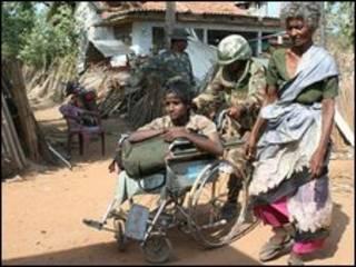 آوارگان نبردهای سریلانکا