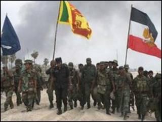 نیروهای دولتی سری لانکا در ناحیه جنگی