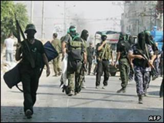 نیروهای حماس در درگیری سال 2007
