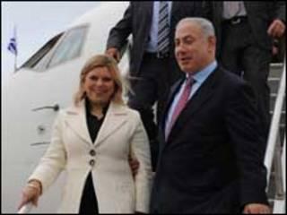 Sara e Binyamin Netanyahu em Washington