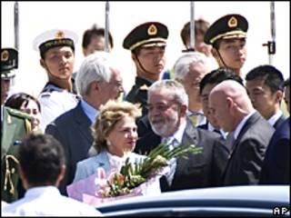 El presidente de Brasil arriba a Pekín