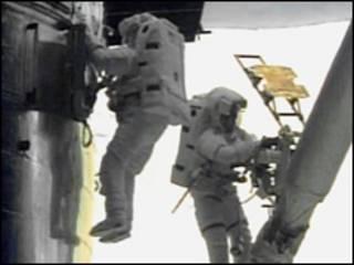 Astronautas en el Hubble