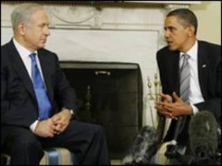 Thủ tướng Israel Benjamin Netanyahu và tổng thống Mỹ Barrak Obama.
