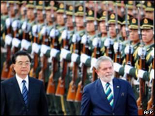 Hu Jintao e Lula