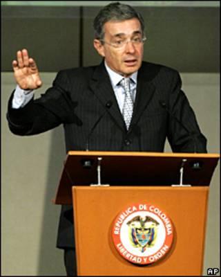 President de Colombia, Álvaro Uribe