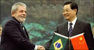 Tổng thống Brazil Lula da Silva gặp Chủ tịch TQ Hồ Cẩm Đào