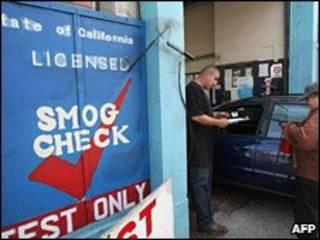Teste de emissões na Califórnia