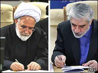 میرحسین موسوی - مهدی کروبی