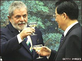 Luiz Inácio Lula da Silva e Ju Jintao