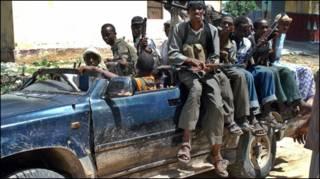 Một nhóm phiến quân hồi giáo tại thủ đô Mogadishu.