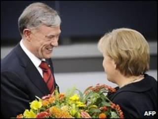 Horst Kohler e Angela Merkel