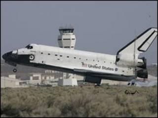 Atlantis aterriza en California