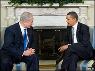 Premiê israelense Benjamin Netanyahu e Obama se encontraram em Washington (arquivo)