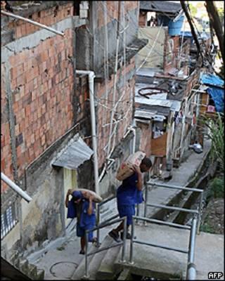 Una favela en Brasil