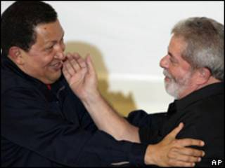 Reunión Chávez-Lula