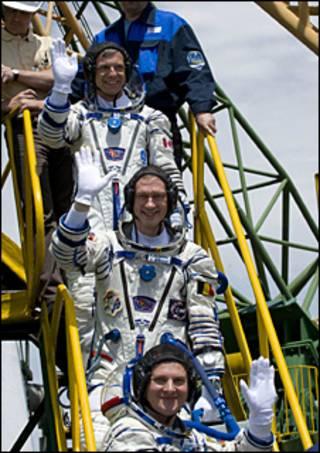 فضانوردانی که با سویوز راهی ایستگاه فضایی شدند
