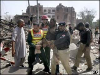 محل انفجار لاهور