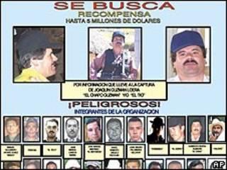 Cartel de búsqueda del narco Joaquín Guzmán Loera, alias El Chapo