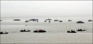 Tàu cá Trung Quốc trên Hoàng Hải