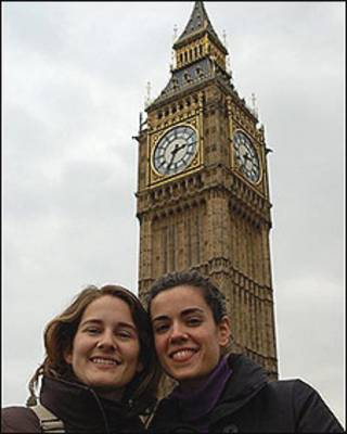 De turistas en Londres