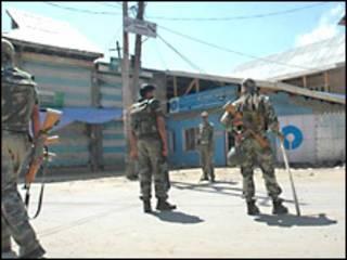 कश्मीर में तैनात भारतीय सैनिक