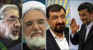 آقایان احمدی نژاد، رضایی، کروبی و موسوی