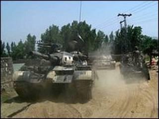ارتش پاکستان کنترل شهر مینگوره را در دست گرفته است