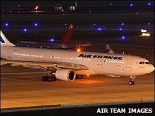 هواپیمای ای 200-330 ایرفرانس که تصور می شود هواپیمای ناپدید شده باشد