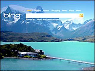 Imagen del sitio BIng de Microsoft