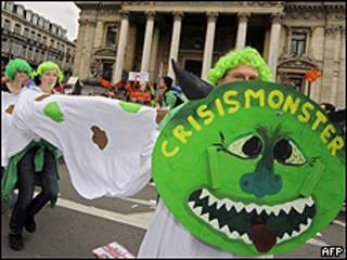 Manisfestación en Bruselas
