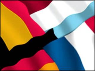 Banderas de países miembros de la Unión Europea