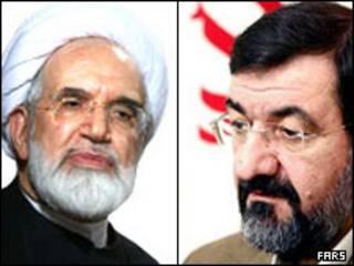 رضایی و کروبی - عکس از خبرگزاری فارس