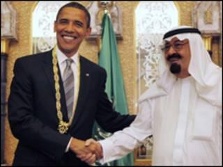 O presidente dos Estados Unidos, Barack Obama, se encontrou com o rei Abdullah (AP)