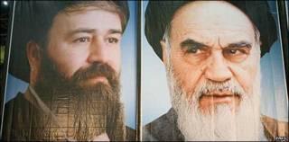 آیت الله خمینی و پسرش احمد
