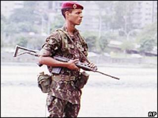 Soldado brasileño