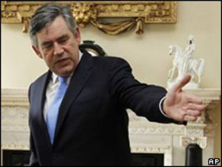 Gordon Brown, primer ministro británico.