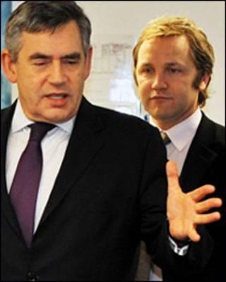 Bộ trưởng Purnell và thủ tướng Gordon Brown