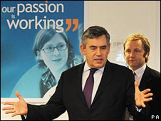 El primer ministro Gordon Brown