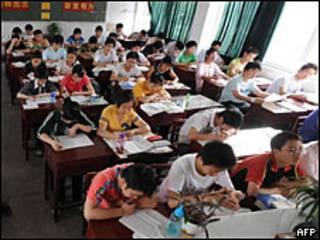 Estudiantes chinos en clase