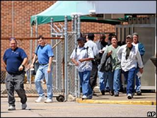Trabajadores de la planta de GM de Delaware, EE.UU.