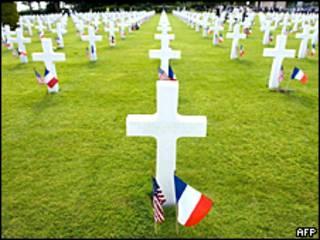 Cementerio estadounidense en Normandía