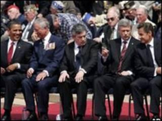 رهبران کشورهای غربی در نرماندی