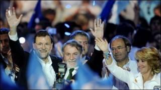 O Partido Popular, de centro-direita da Espanha, foi um dos vencedores da noite