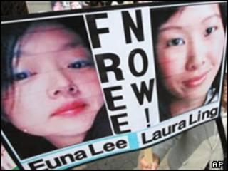 لورا لینگ (راست) و ایونا لی
