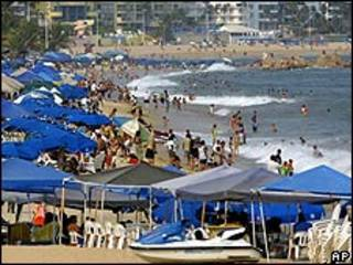 Playa en Acapulco, México