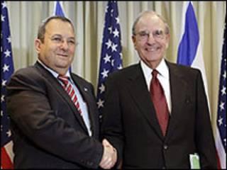 جورج میچل (راست) و اهود باراک