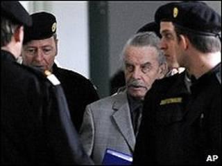 Fritzl durante su juicio