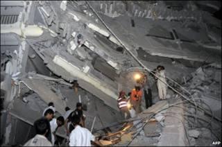تخریب بخشی از هتل پرل کنتیننتال در انفجار پیشاور