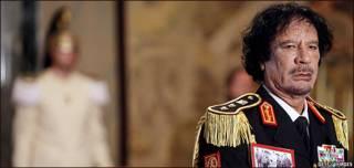 Muammar Gaddafi en el Quirinale
