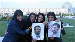 دختر جوان حامی احمدی نژاد